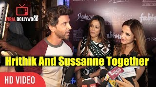 Hrithik Roshan And EX Wife Sussanne Khan At Salaam, Noni Appa Play Preview