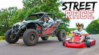 Shifter Kart vs. Maverick X3 STREET RACE!! (We got tickets)