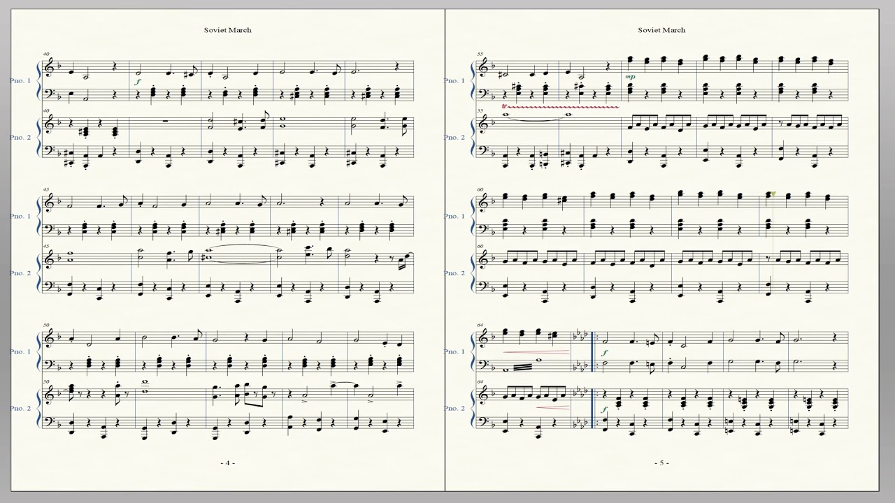 ソビエト マーチ 楽譜