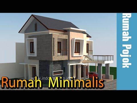 Desain rumah minimalis 2 lantai di kavling pojok, cibubur