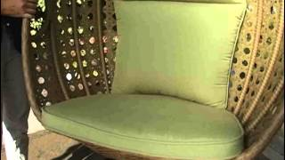 Jubilee All Weather Wicker Hanging Chair - Product Review Video