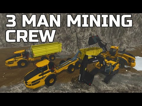 FARMING SIMULATOR 2017 | MINING STONE AND MAKIN' CONCRETE | 3 MAN CREW