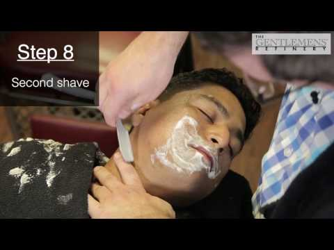 STRAIGHT RAZOR SHAVE by The Gentlemens Refinery TRAINING FOR BARBERS