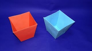 crafts diy-paper bucket-How to make easy origami paper Bucket-easy paper craft thumbnail