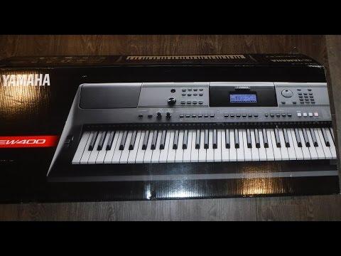 Yamaha PSR EW400 Keyboard Unboxing And Setup
