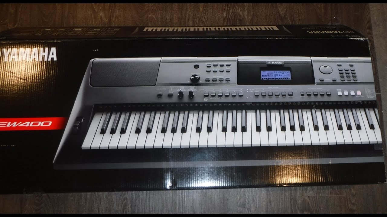 yamaha psr ew400 keyboard unboxing and setup youtube. Black Bedroom Furniture Sets. Home Design Ideas