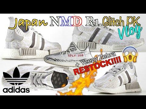 Adidas NMD R1 JAPAN Glitch + YEEZY 350 Zebra Restock