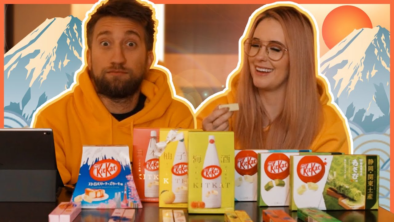 Japanese Kit Kat Taste Test #3 with Gavin Free - Meg Turney