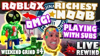 RICHEST NOOB World Record !? NEW Merch & Group ► Roblox Weekend Grind #4 🔴 Live RW