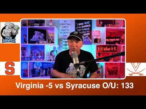Virginia vs Syracuse 3/11/21 Free College Basketball Pick and Prediction CBB Betting Tips