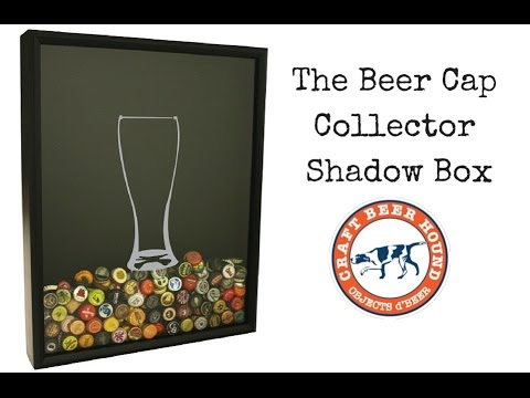Beer cap collector shadow box an origin story youtube for Craft beer typography beer cap shadow box beer cap collector