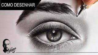Como desenhar um Olho Realista // How to draw realistic eye