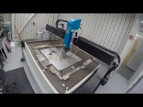 Waterjet Cutting a Map Projection of the Earth