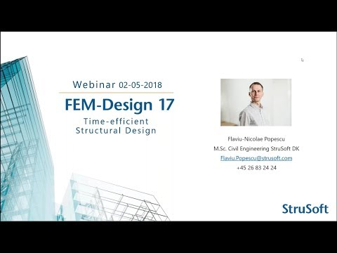 FEM-Design: Time-efficient Structural Design