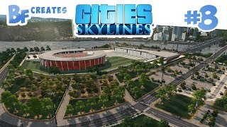 cities Skylines Green Cities #8  Sports Arena & Concerts DLC
