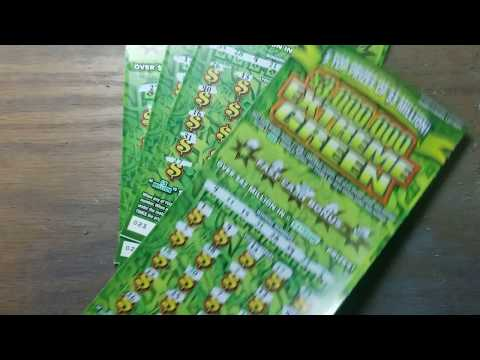 3 wins in a row. $30 Extreme Green Pa lottery scratch tickets
