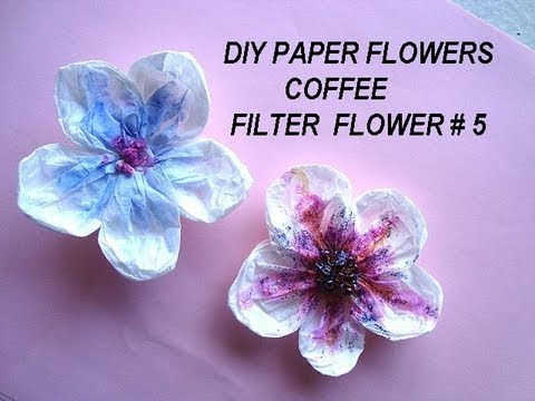Diy coffee filter flower 5 anemone flower youtube mightylinksfo