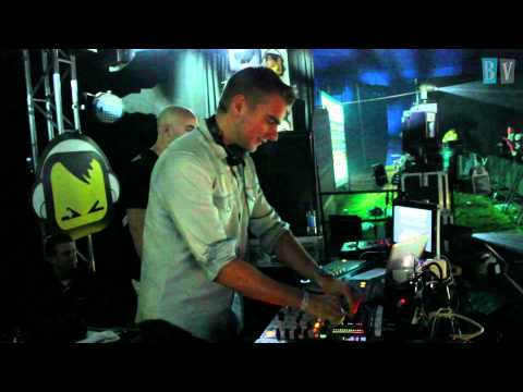 Showtek live act with singer at Creamfields 2010 - Backstage Full HD