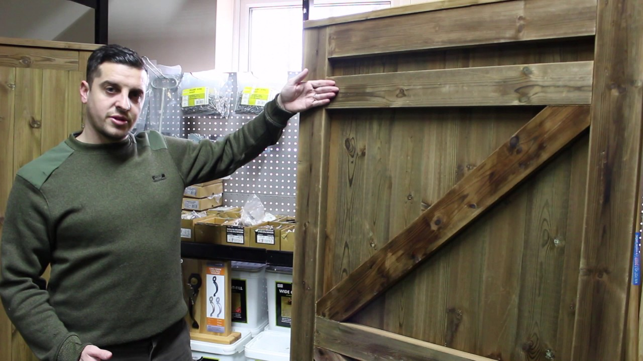 Tongue & Groove Garden Gate - YouTube