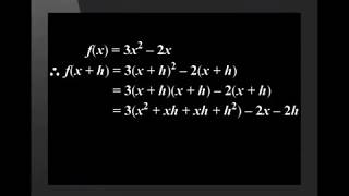 Determining the Derivatives using First Principles