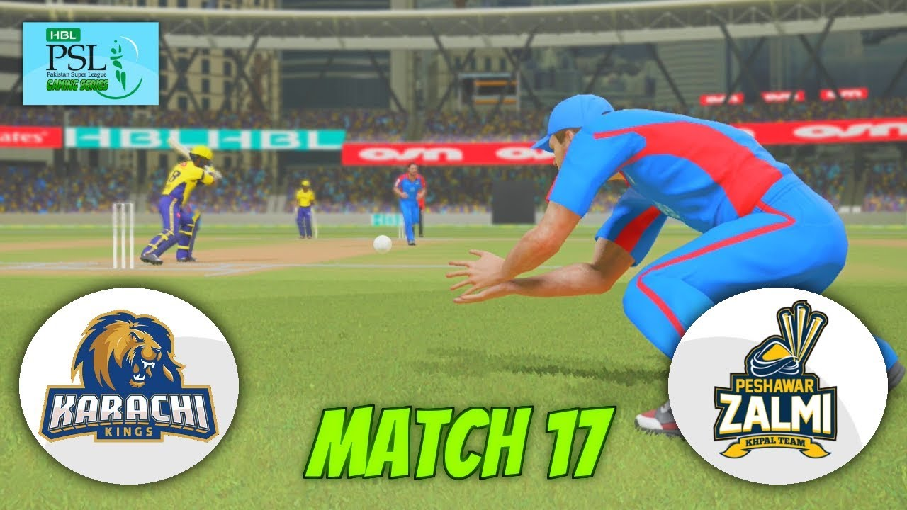PAKISTAN SUPER LEAGUE 2018 (GAMING SERIES)-MATCH 17 - KARACHI KINGS v PESHAWAR ZALMI -ASHES CRICKET