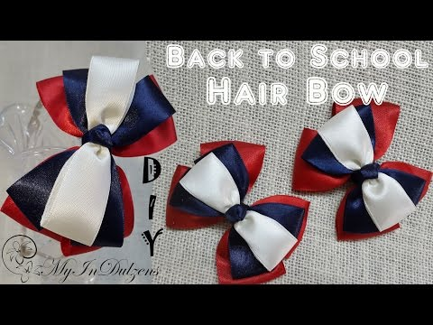 D.I.Y. Back to School Hair Bow | MyInDulzens