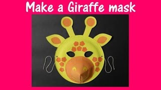 Arts and Crafts: How to make a Giraffe mask.