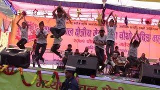Dubstep,Hip-Hop and Nepali folk( Gurashai Fulyo) performance in Dhading Mahotsav