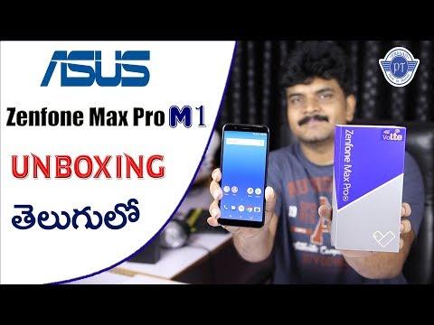 Asus Zenfone Max Pro M1 Unboxing & initial impressions ll in telugu ll