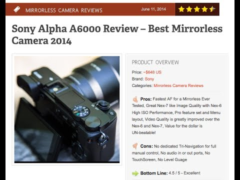 Sony Alpha A6000 Review - Best Mirrorless Camera 2014