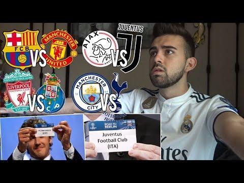 HINCHA del REAL MADRID reacciona al SORTEO de CUARTOS Champions League *EL BARCELONA A LA FINAL*