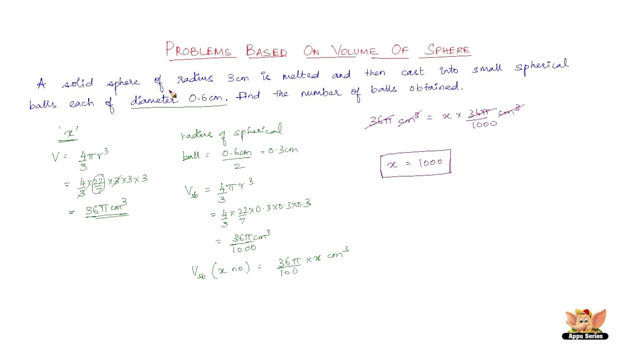 How To Find The Surface Area Of Solid Sphere ? Youtube