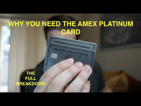 WHY YOU NEED THE AMEX PLATINUM CARD TODAY!