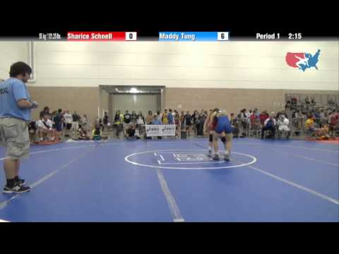 FILA Junior 55 kg / 121.25 lbs. - Sharice Schnell vs. Maddy Tung