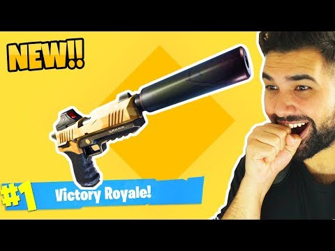 the NEW SILENCED PISTOL in Fortnite: Battle Royale is AMAZING..