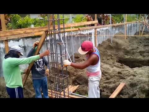Actual Construction of Modern 2 Storey House - 2nd Work Week