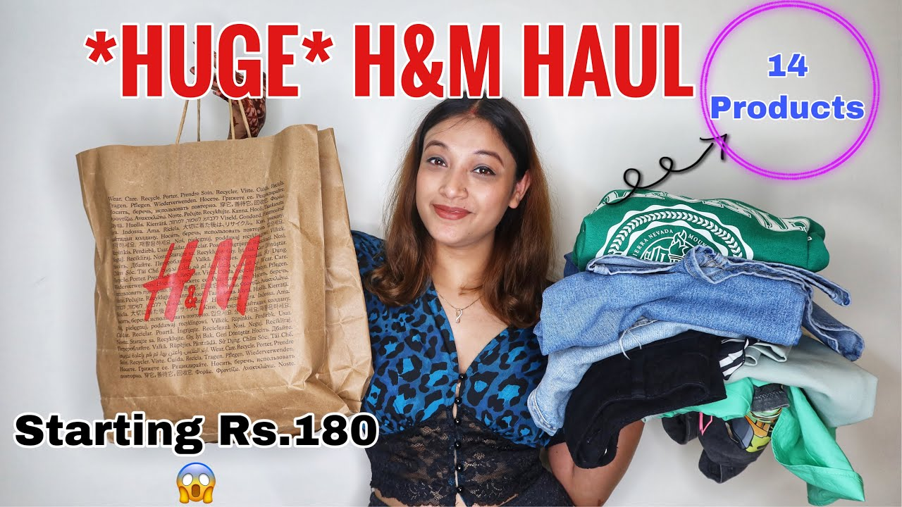 Download *HUGE* H&M &ZARA ( 14 Products) Haul | High Waisted Mom Jeans , Wide Leg Jeans , Tops and More Haul