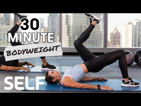 30-Minute Abs & Cardio at Home Workout With Burnout - No Equipment | SELF