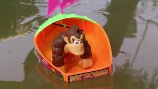Best Kids Cartoon Videos - Diddy Kong Construction Toys Building A New Bridge For FishTruck | BKCV