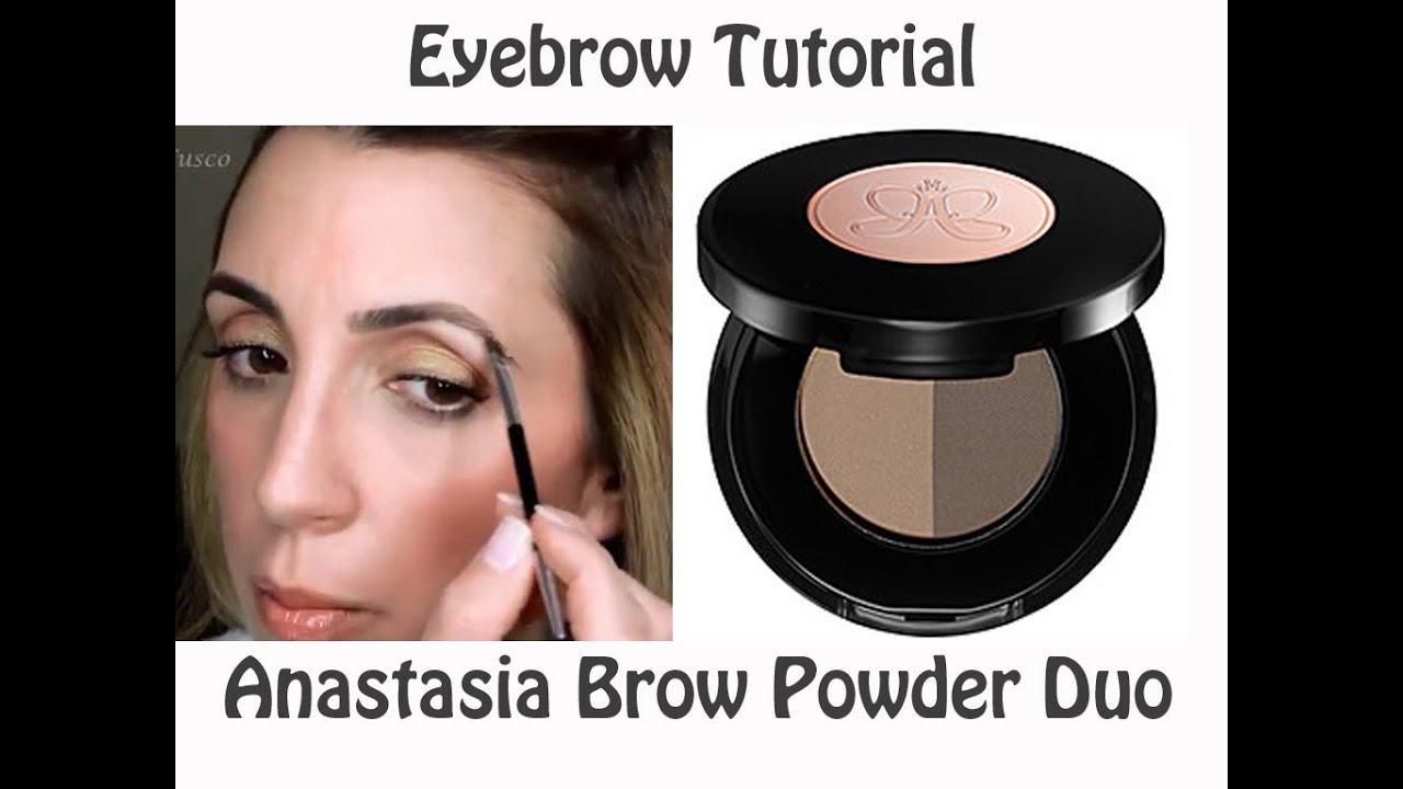eyebrow powder. eyebrow tutorial - anastasia brow powder duo eyebrow s