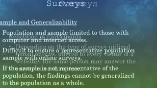 What are Online Surveys