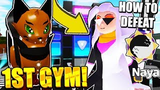 DEFEATING FIRST GYM AND EVOLVING SHINY FEVINE IN LOOMIAN LEGACY! Roblox