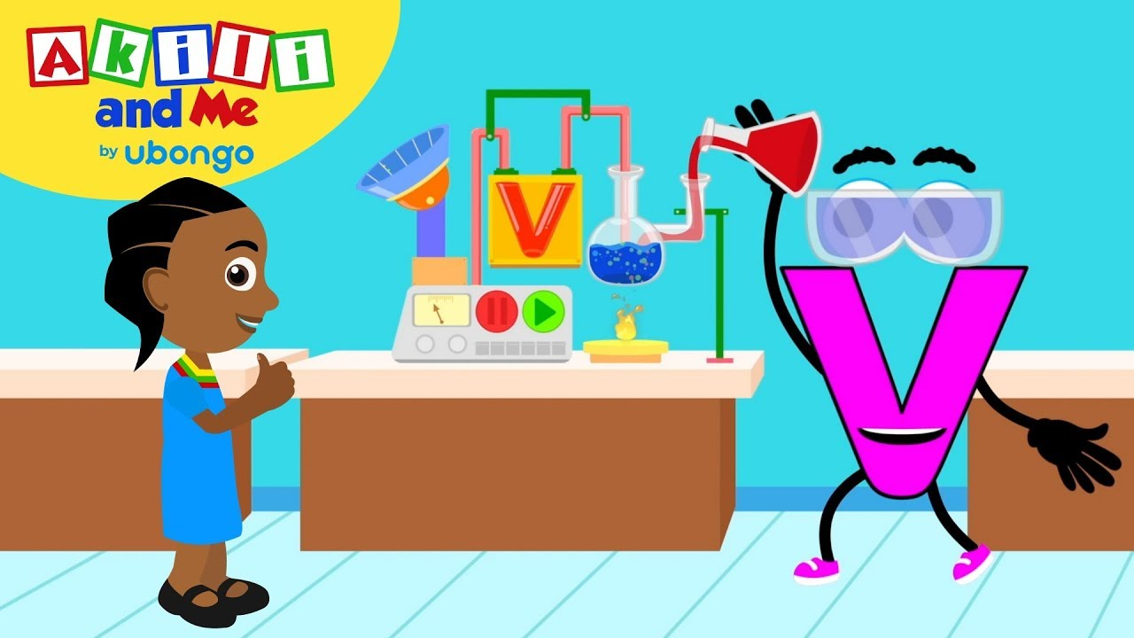Meet Letter V! | Learn the Alphabet with Akili | Cartoons from Africa for Preschoolers