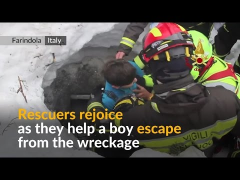 Survivors pulled from Italy avalanche hotel debris