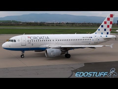 Croatia Airlines - Airbus A319-112 9A-CTH - Takeoff from Zagreb airport ZAG/LDZA