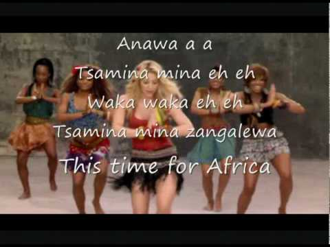 Shakira  Waka Waka + lyrics