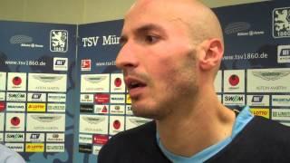 TSV 1860 München Necat Aygün nach dem bitteren 1:1 gegen den SV Elversberg