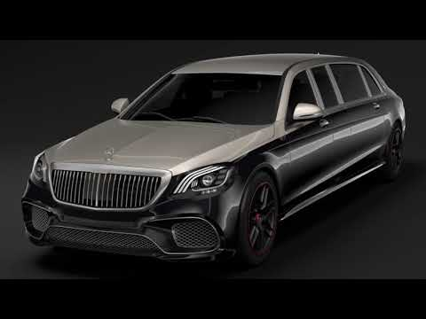 3D Model of Mercedes AMG Maybach S 65 Pullman VV222 2019 Review