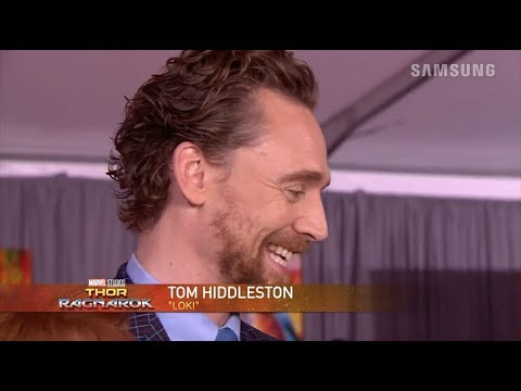 Tom Hiddleston on the red carpet of the LA Thor: Ragnarok Premiere