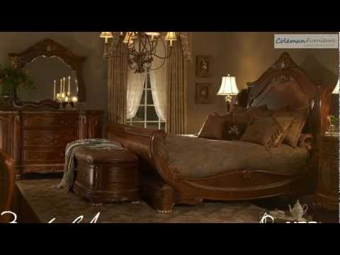 Cortina Sleigh Bedroom Collection From Aico Furniture